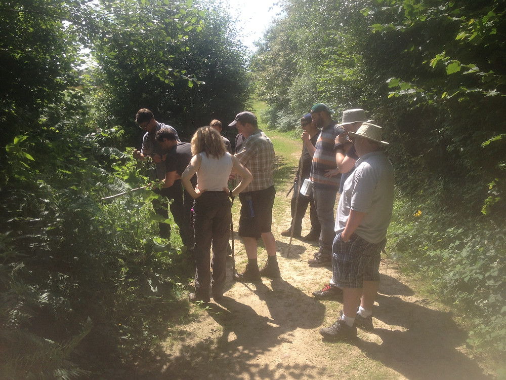 Foragers on a course with Leon