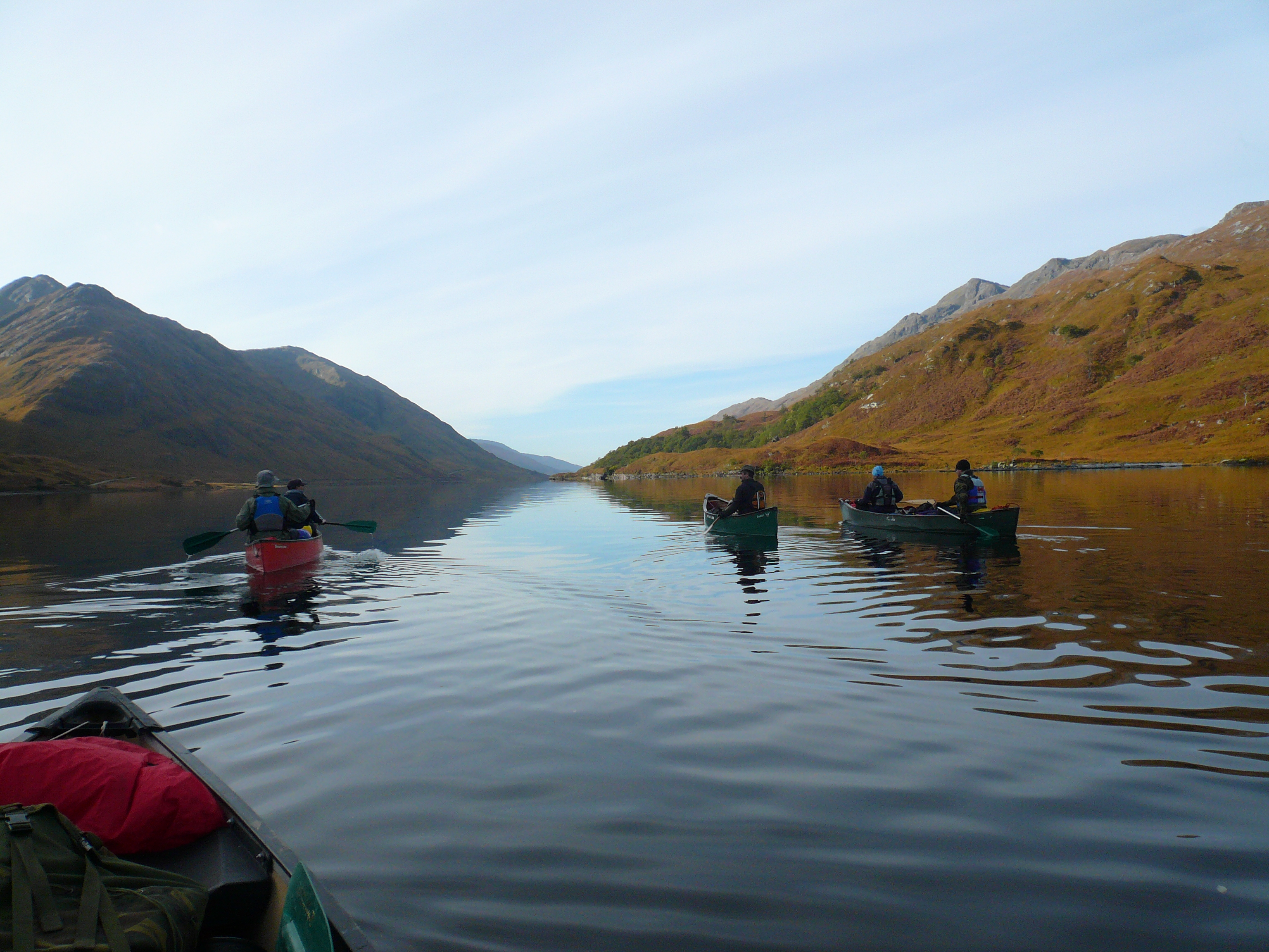 bushcraft canoe expedition Shiel
