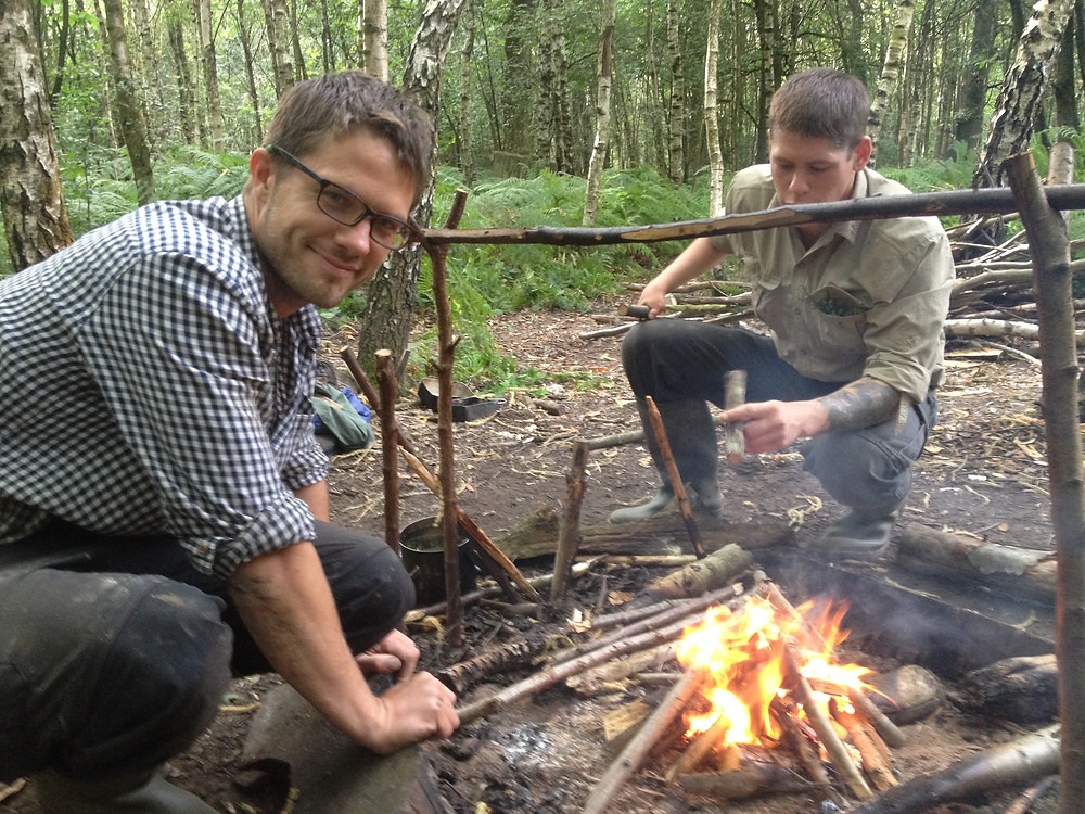 around the campfire on a Survival Weekend