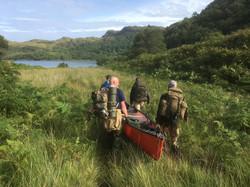 canoe portage Loch Moidart