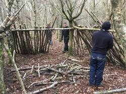 Winter bushcraft skills course U.K.