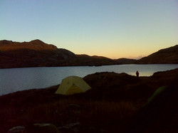 Leave No Trace wild camp mountains