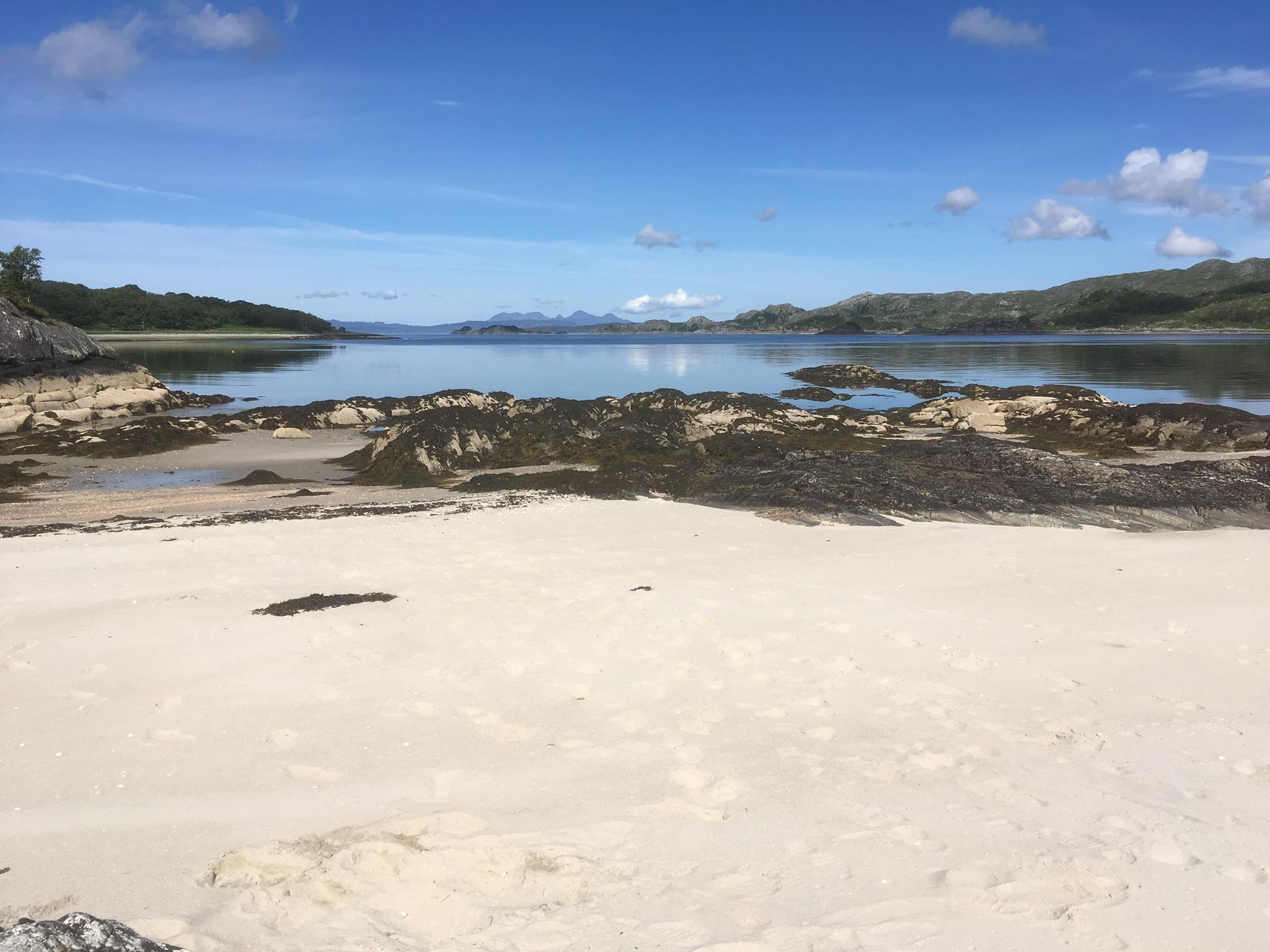 Moidart beach scene