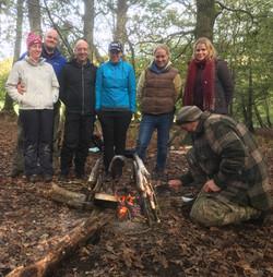 bushcraft campfire team building day