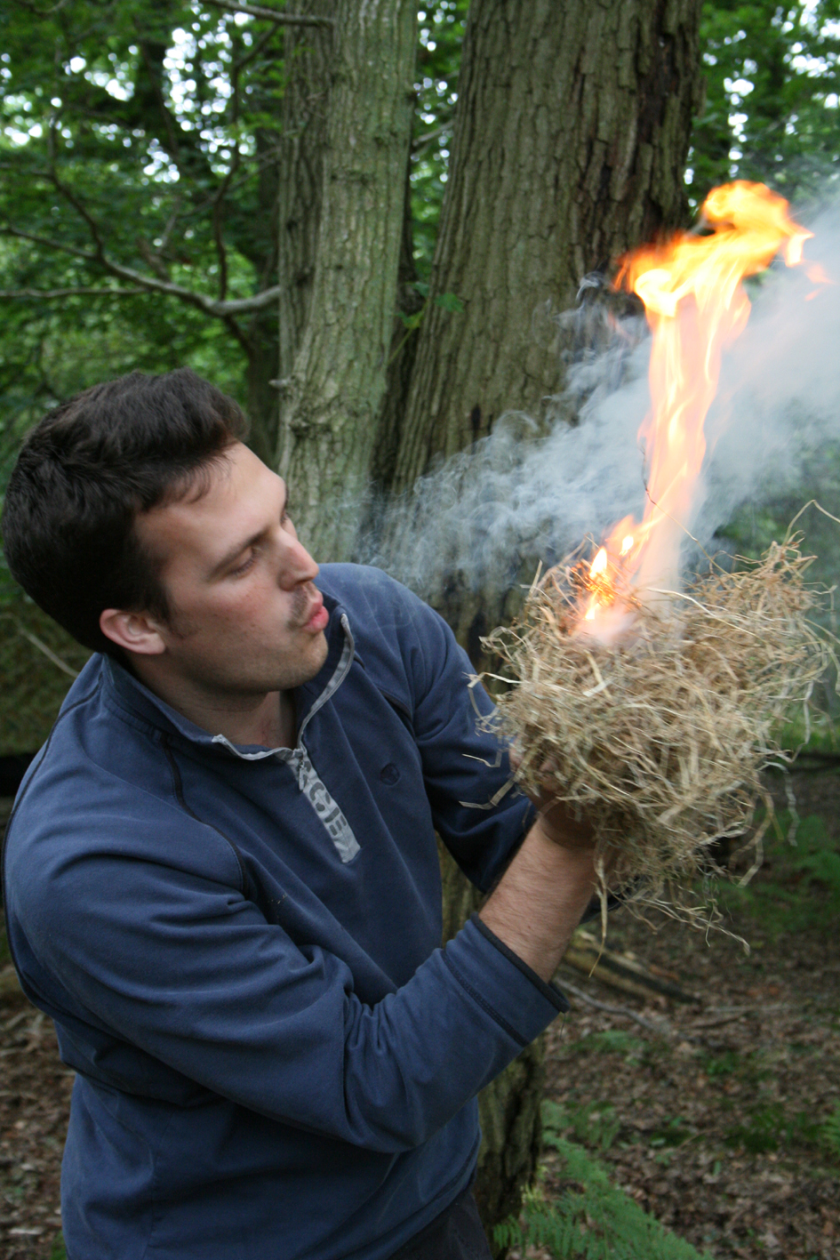 make fire with sticks survival skill