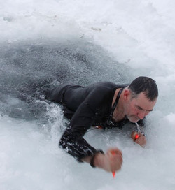 ice drill Survival Expedition Sweden
