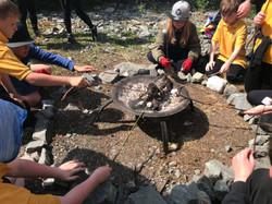 Forest School fire circle Scotland