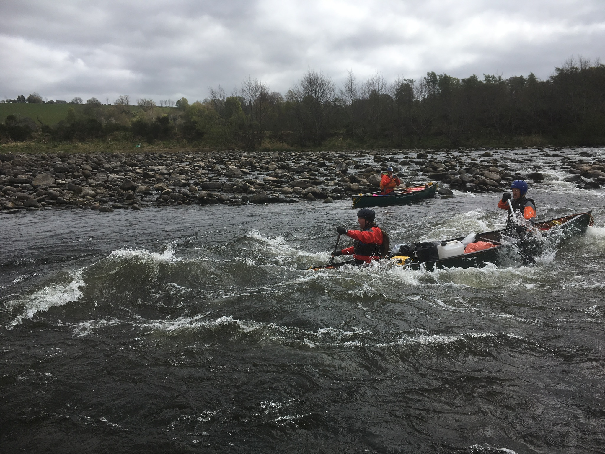 open canoe river Spey descent course