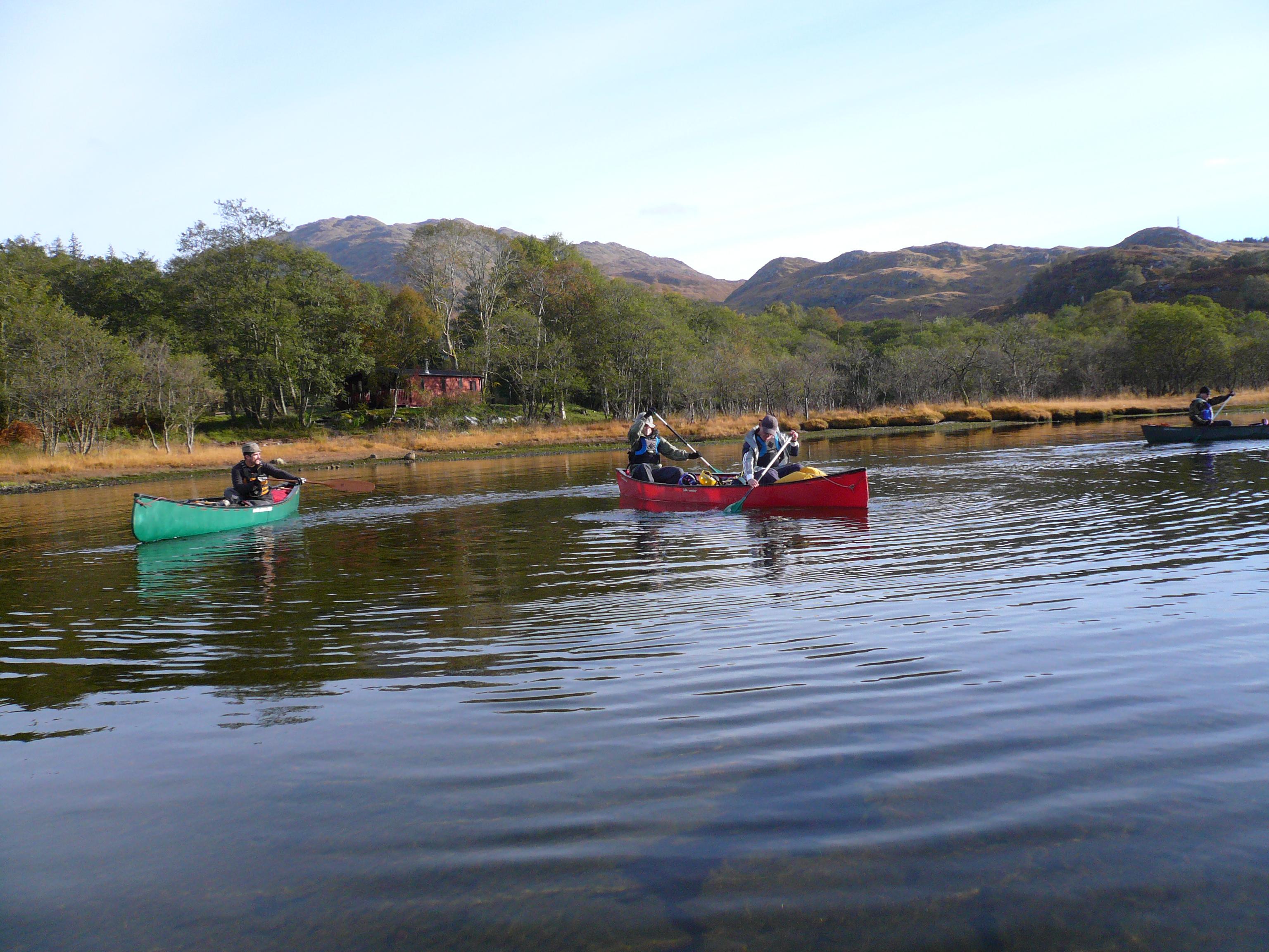 Canoe Loch Shiel Scotland