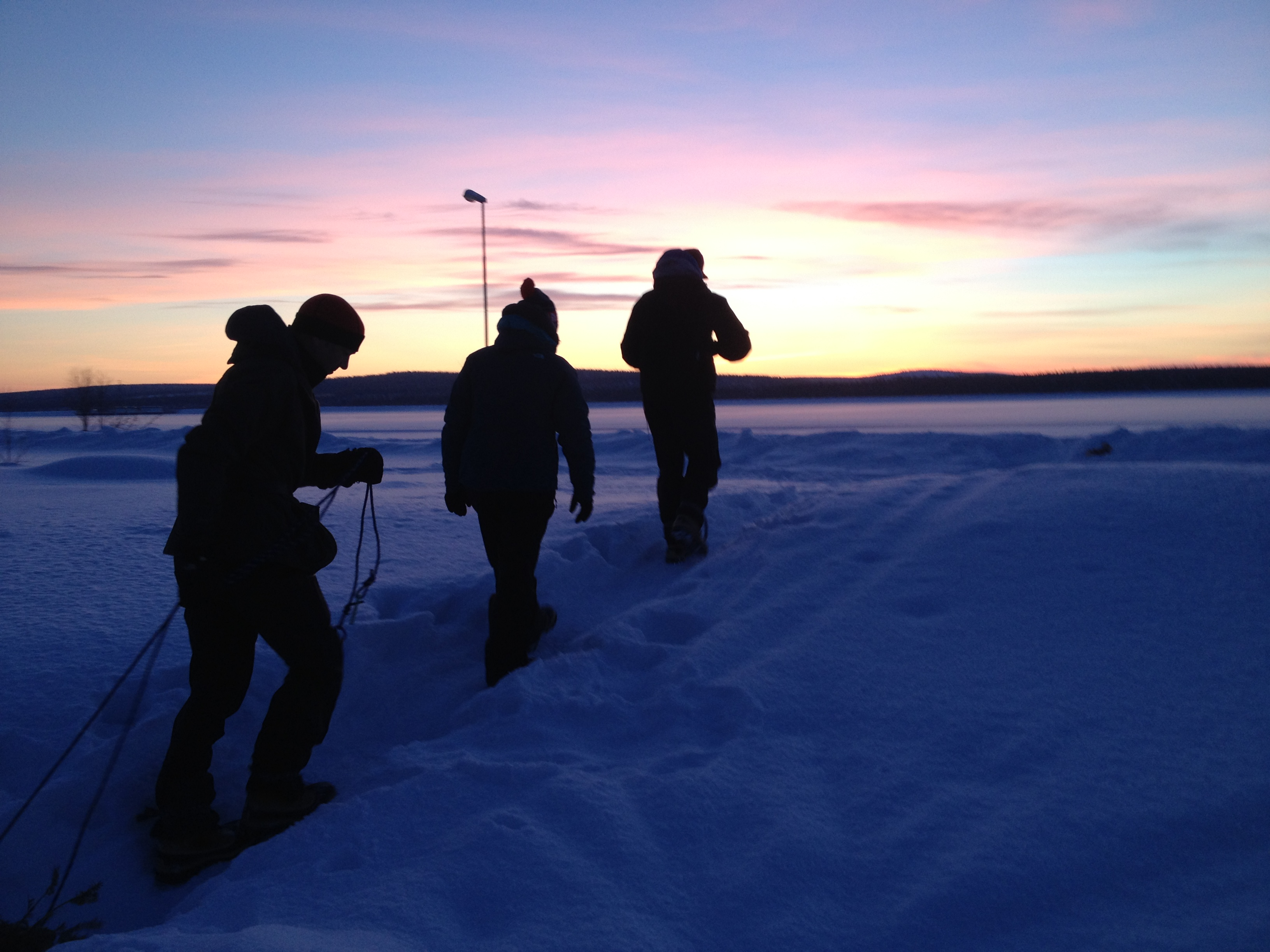 Cold weather skills course Sweden