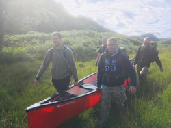 Canoe portage Coastal Survival Scot
