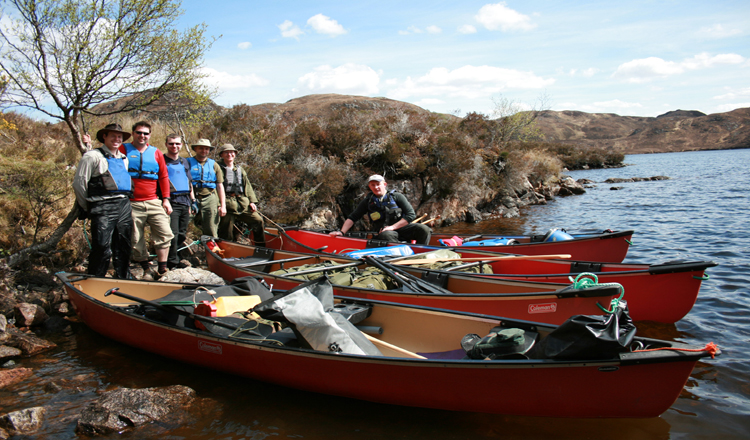 bushcraft canoe scotland