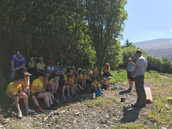 Whole class outdoor learning forest