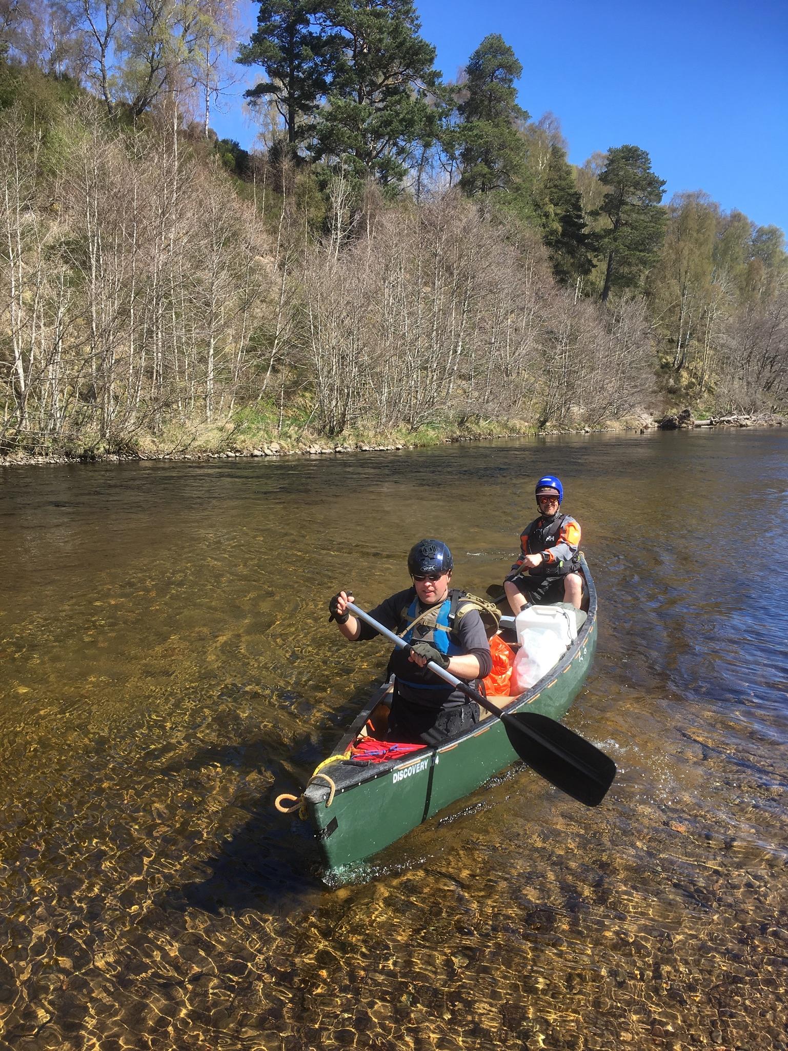 Bushcraft canoe expedition Scotland