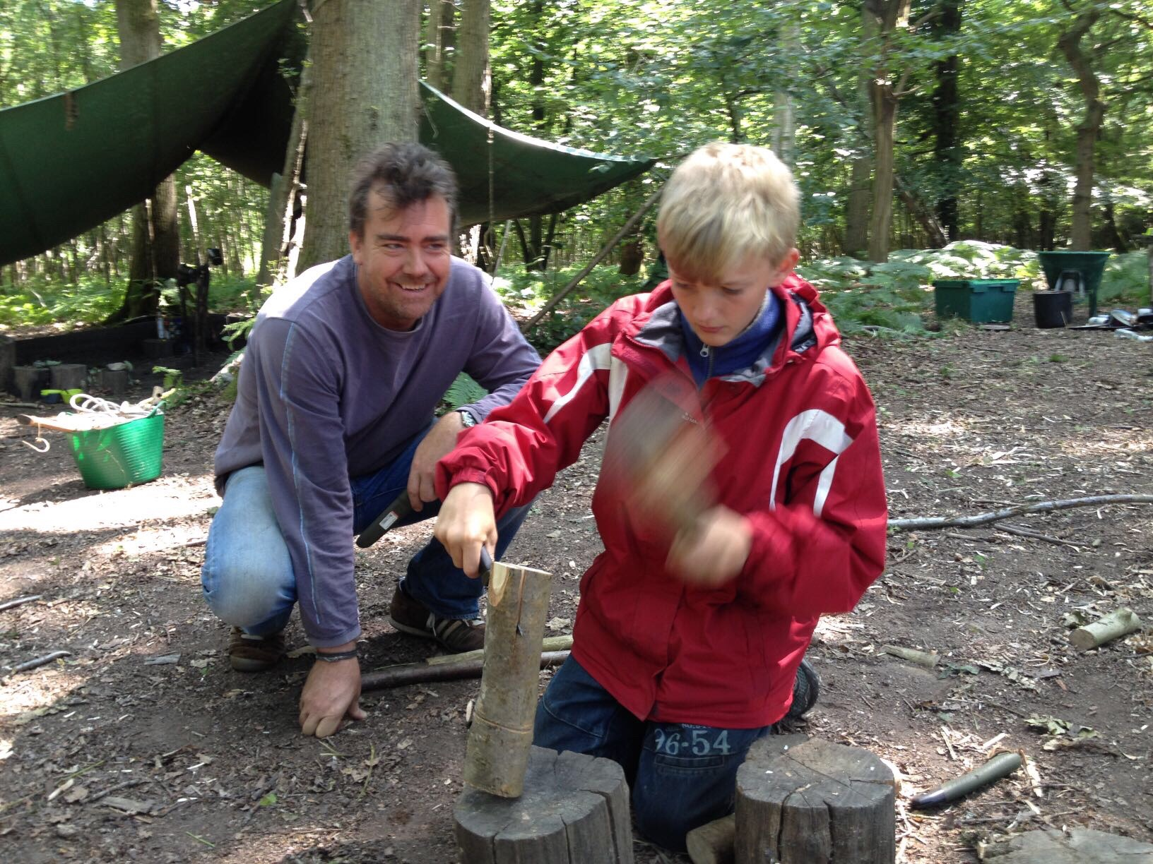 Father son bushcraft experience day