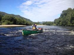 River Spey bushcraft canoe journey