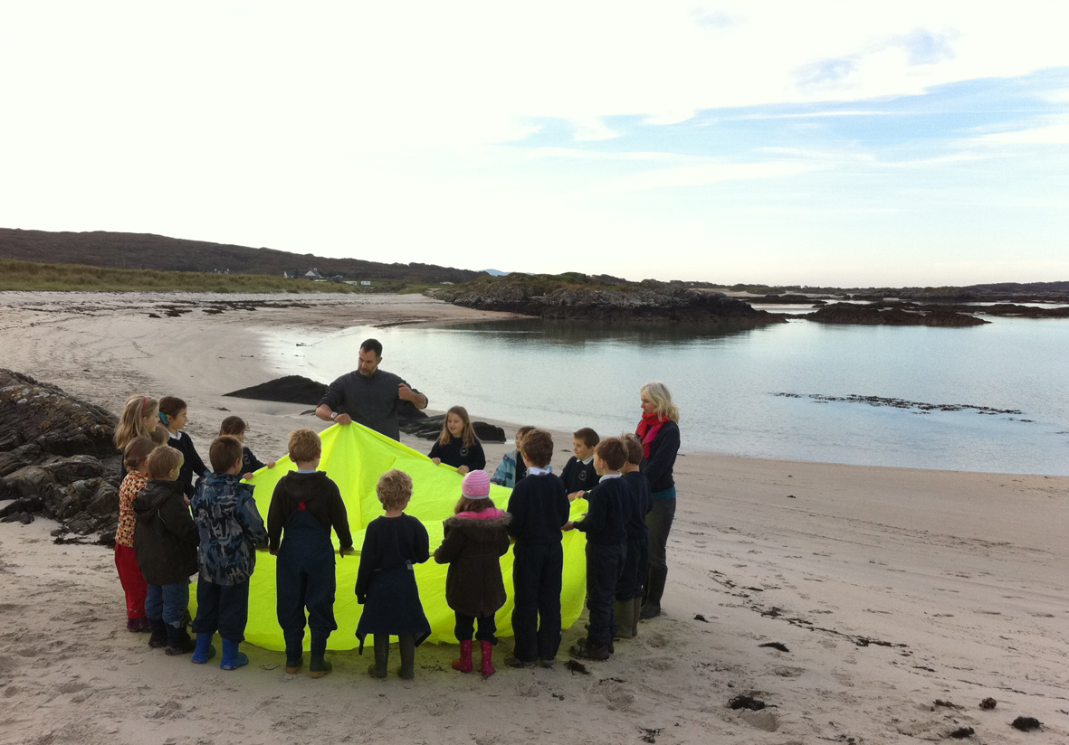 Beach School session Scotland