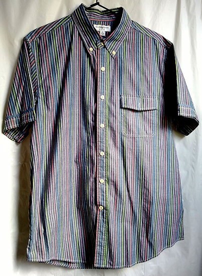 Men's Stripped Button-Up