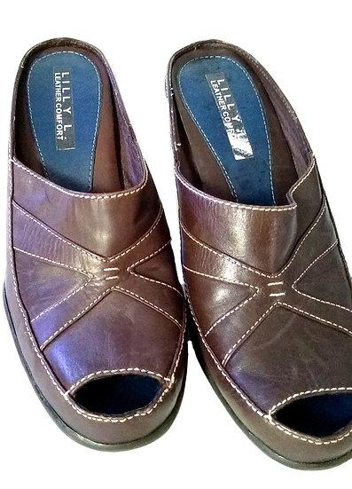 Dark Brown Leather Heels
