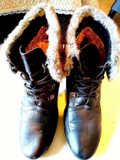 Faux Fur Heel Boots from Spain