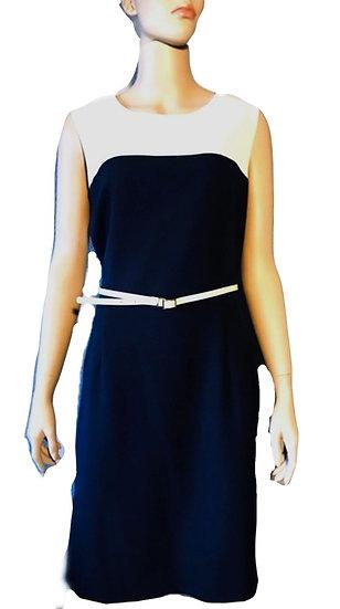 Calvin Klein Navy and Cream Dress
