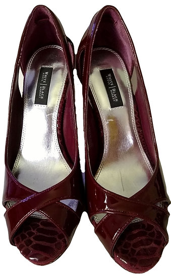 White House Black Market Burgundy Heels