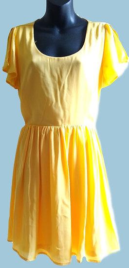 Bright Yellow Dress Large