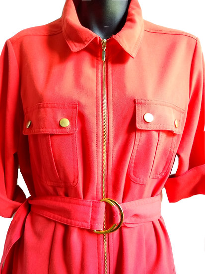 Red Trench Dress