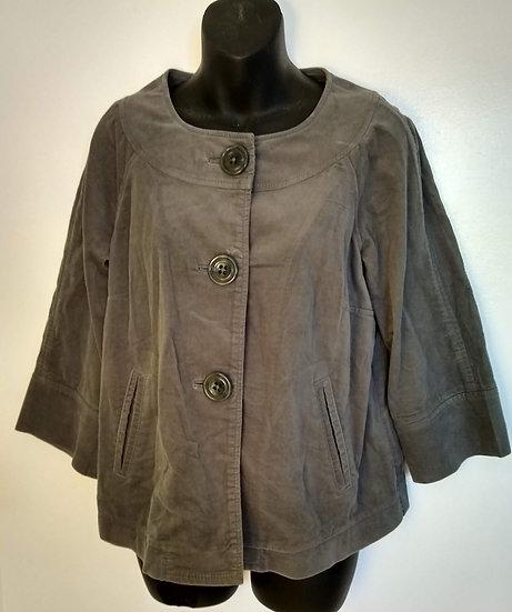 Grey Poncho- Style Jacket Medium