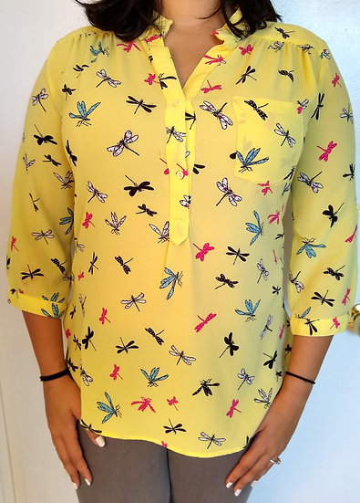 Super Fly Dragon Fly Button-Up