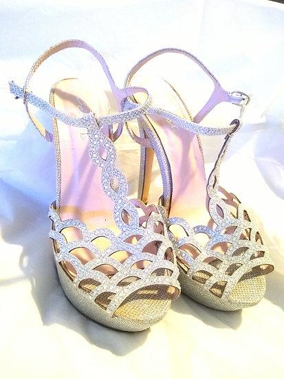 Glittery Heels Size 7.5