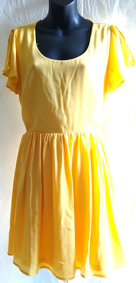 Bright Yellow Dress Large