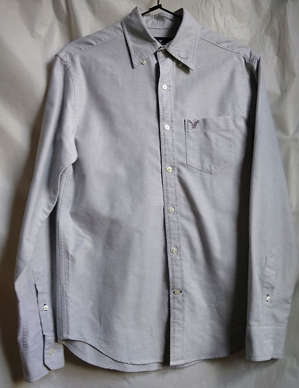 American Eagle Grey Button-Up