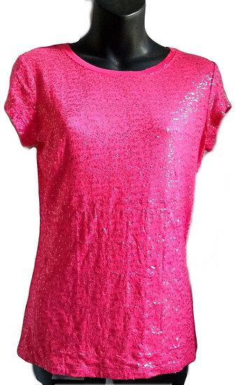 Pink Sequin T-Shirt