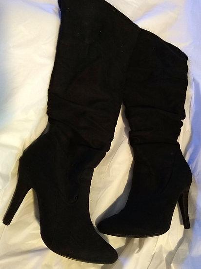 High Calf Boot Heels Size: 7.5
