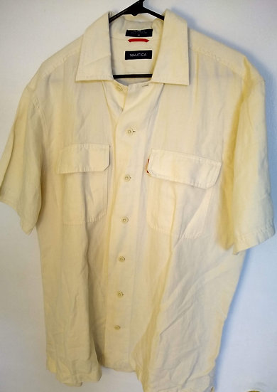 Nautica Medium Tan Button-Up