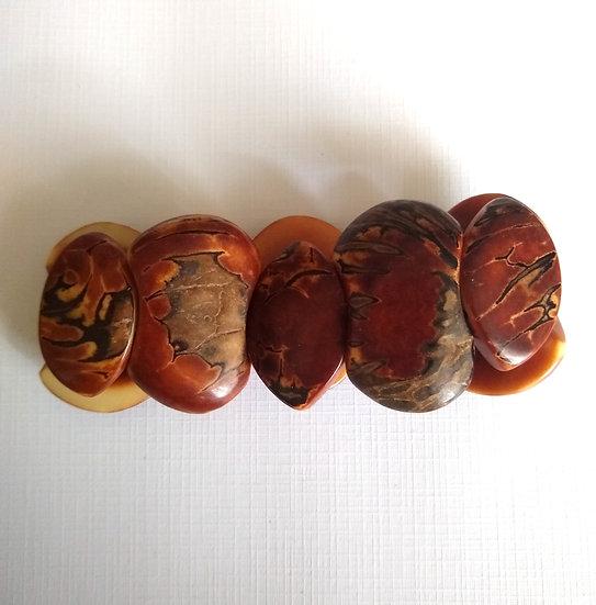 Natural Brazilian Nut Bracelet- Red