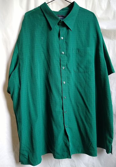 Mens Bright Green Button-Up