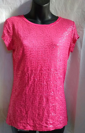 Pink Sequin T-Shirt