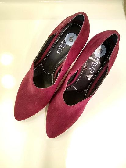 Red Heel Booties Size 9