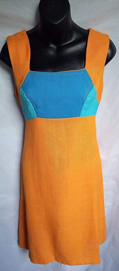 Bright Orange and Blue Dress