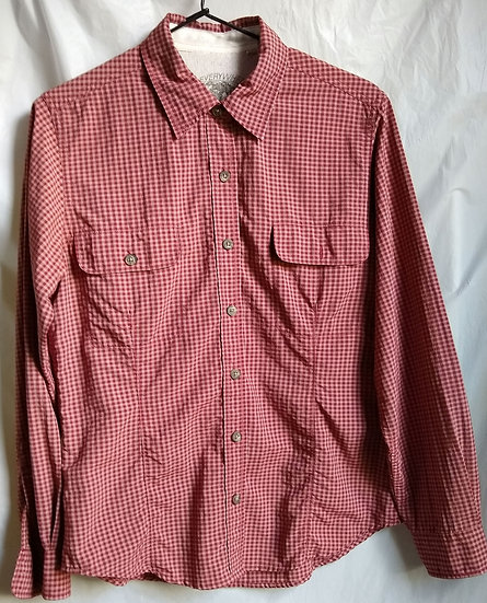 Red Flannel Button-Up