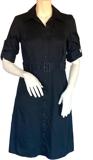 Ann Taylor Black Trench Dress