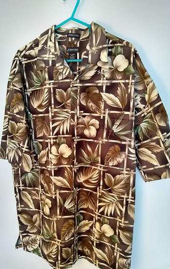 St. John's Bay XL Tropical Button-Up