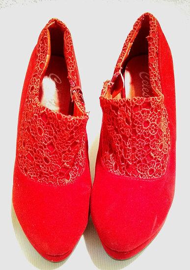 Bright Red Celeste Heels