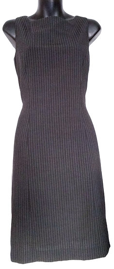 Tahari Black Stripped Dress