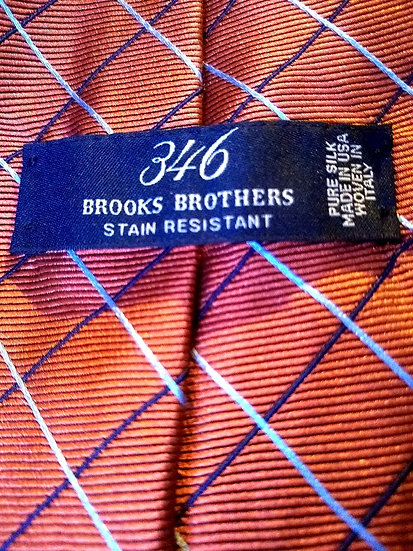 Brooks Brothers Orange and Blue Tie