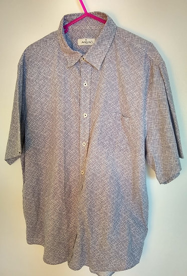 Button-Up Blue/ White XL