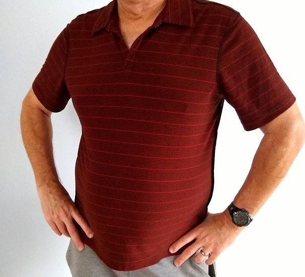 Red V-Neck Athletic T-Shirt.