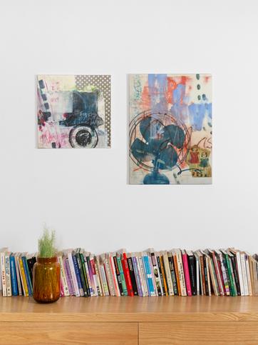 Two Encaustic Paintings
